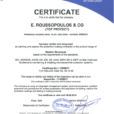 Certified by TUV HELLAS
